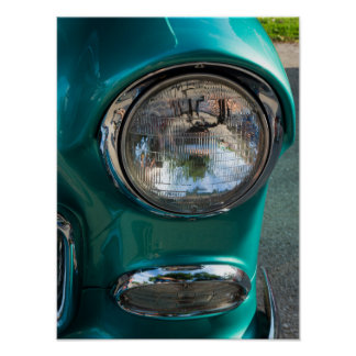 55 Chevy Headlight Poster