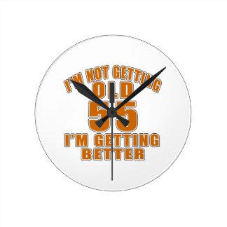 55 I Am Getting Better Wall Clock