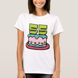 55 Year Old Birthday Cake T-Shirt