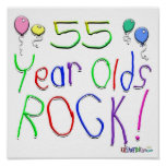 55 Year Olds Rock ! Poster