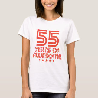 55 Years Of Awesome 55th Birthday T-Shirt