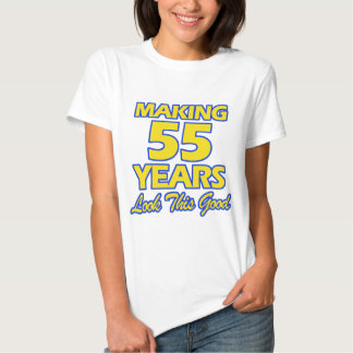 55 YEARS OLD BIRTHDAY DESIGNS T-SHIRT