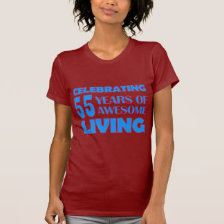 55 years old birthday designs t shirts