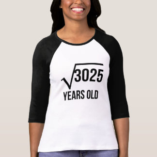 55 Years Old Square Root Tee Shirt