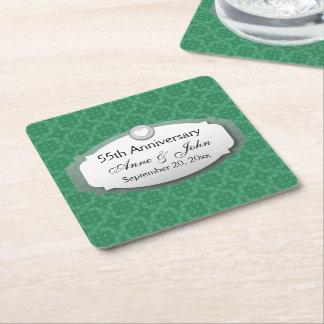 55th Anniversary Emerald Green Z28 Square Paper Coaster