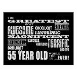 55th Birthday Party Greatest Fifty Five Year Old Poster