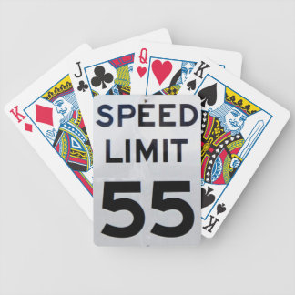 55th Birthday Speed Limit Sign - Playing Cards