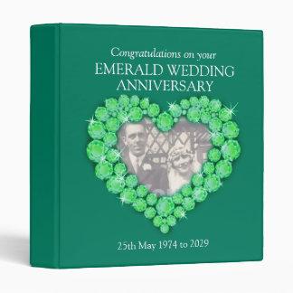 55th emerald wedding anniversary photo folder binders