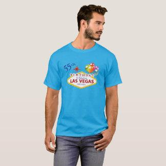 55th Las Vegas Birthday Men's Dark T-Shirt