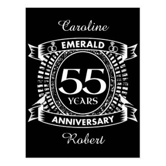 55th wedding anniversary emerald crest postcard
