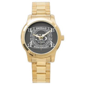 55th wedding anniversary emerald crest watch