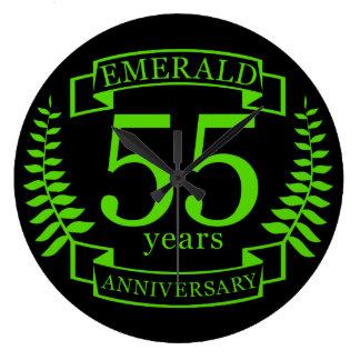 55th Wedding ANNIVERSARY EMERALD Wallclock