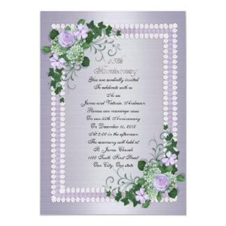 "55th Wedding anniversary vow renewal Lavender 5"" X 7"" Invitation Card"