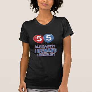 55th year old birthday designs t-shirts
