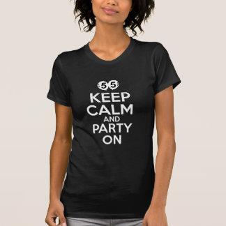 55th year old birthday designs t shirts