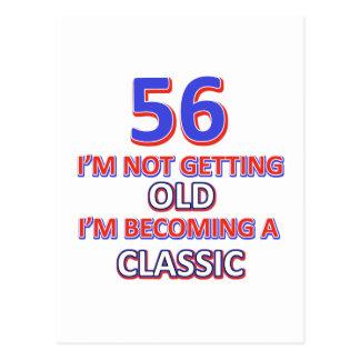 56 birthday design postcard