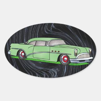 56 Buick 2 door Hardtop Oval Sticker