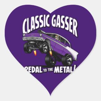 56' Gasser Flair Heart Sticker