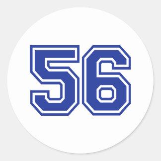 56 - number classic round sticker