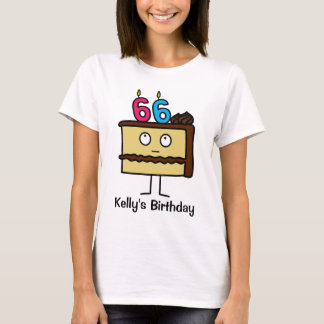 56th Birthday Cake with Candles T-Shirt