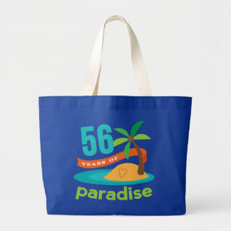 56th Wedding Anniversary Funny Gift For Her Jumbo Tote Bag