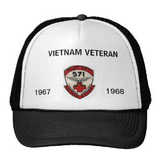 571st DUSTOFF ORIGINAL UNIT PATCH  WITH DATES Trucker Hat