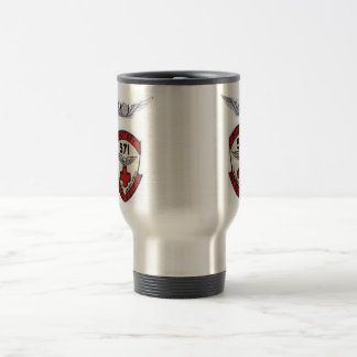 571st DUSTOFF  UNIT PATCH W/ CREWMEMBER WINGS 15 Oz Stainless Steel Travel Mug