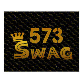 573 Area Code Swag Print