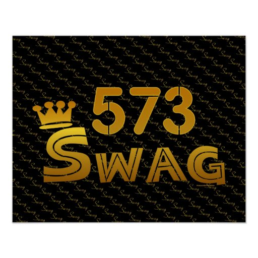 573 Area Code Swag Print