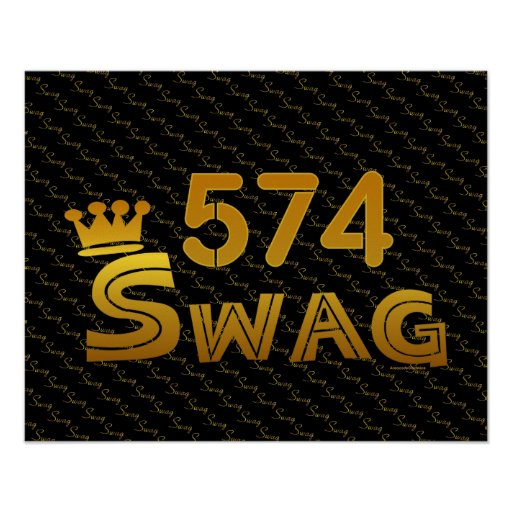 574 Area Code Swag Print