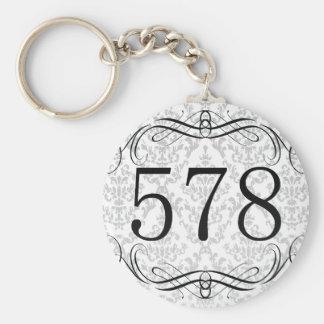 578 Area Code Keychain
