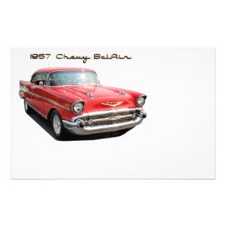 57 Chevy BelAir stationery