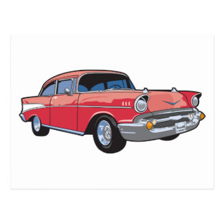 57 Classic Car Postcard