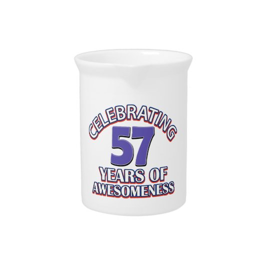 57 year old birthday gifts beverage pitcher