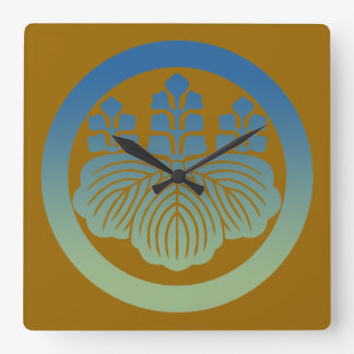 57kiri3 square wall clock