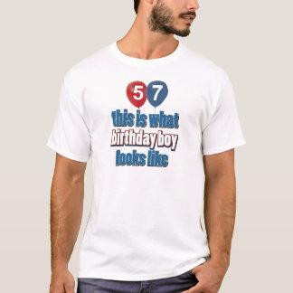 57th year birthday designs T-Shirt