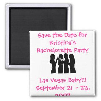 58192, Save the Date for Kristina's Bachelorette ( Square Magnet