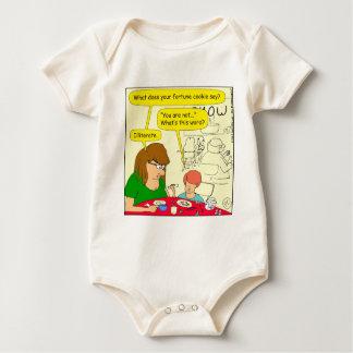 581 illiterate cartoon baby bodysuit