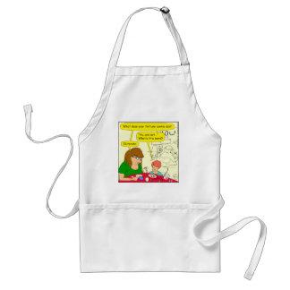 581 illiterate cartoon standard apron