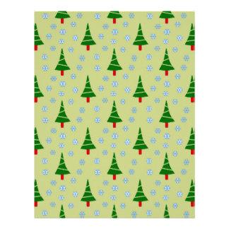 583 Cute Christmas tree and snowflake pattern.jpg Letterhead Design