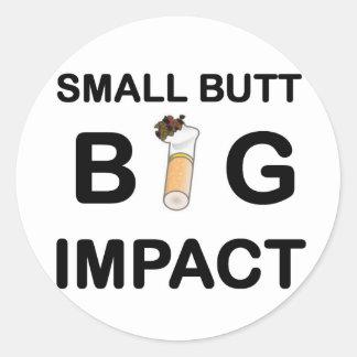 58 Small Butt.jpg Classic Round Sticker