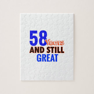 58th birthday design puzzle