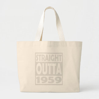 58th Birthday T Shirt Straight Outta 1959 Large Tote Bag