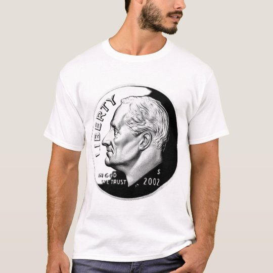 595px-United_States_dime,_obverse,_2002, 604px-... T-Shirt