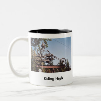 59. 300-100 Riding High 5-07, 59. 300-100 Ridin... Two-Tone Coffee Mug
