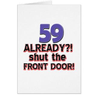 59 Already Shut The Front Door Card