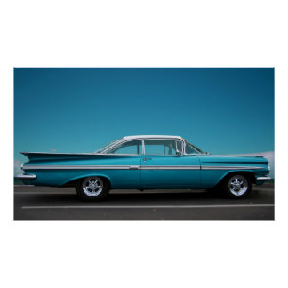 '59 Chevy in Blue Poster