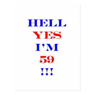 59 Hell yes! Postcard