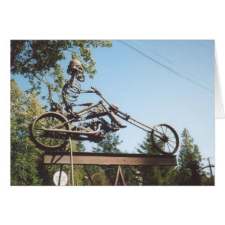 59. Iron Motorbike & Skeleton Card