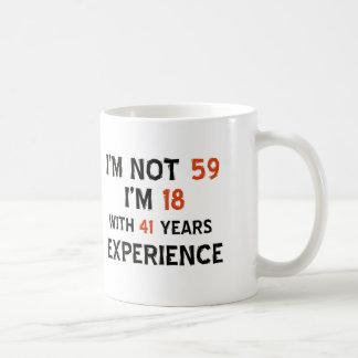 59th birthday designs coffee mug